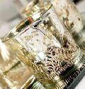 Silver Metal Glass Tea Lights Holder