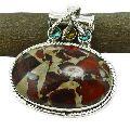 Noreena Jasper Gemstone 925 Sterling Silver Pendant