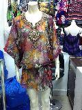 Marushka - Embroidered Neckline Kaftan Tunic