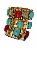 Metal Resin Studded Bangle