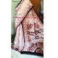 Designer Hand Batik Murshidabad Silk Sarees