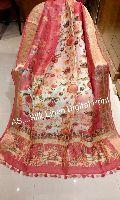 Digital Printed Linen Silk Sarees