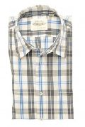 Smart Grey and Blue Check Shirt