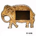 Brass Fitted Wooden Animal Figure Photo Frame