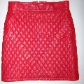 Ladies Leather Quilted Skirts