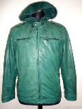 Mens Leather Hooded Jackets