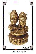 Brass Shiva Parvati Statue