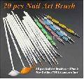 15 pcs Nail Art Brushes + 5Pcs 2 Way Dotting TOOL (combo offer)