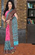 Pink Color Printed Work Casual Saree