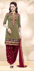 Plain Banarasi Chanderi  Fancy Salwar Suit