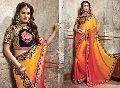 Satin Chiffon Designer Saree