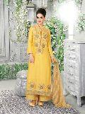 Satin Lawn Cotton Net Fancy Salwar Suit