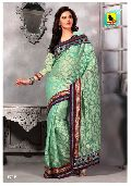 Sea Green Party Wear Saree - Desire Collection
