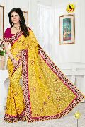 RB-1002 Yellow Regal Beauty Designer Party Wear Saree