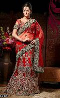 Red Wedding Saree with Heavy Embroidery