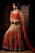 Royal Golden Orange Wedding Dresses