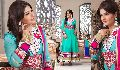 Flamboyant Cyan Blue Salwar Kameez