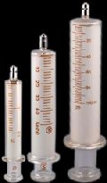 INTERCHANGEABLE GLASS SYRINGES