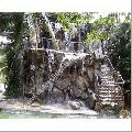 Natural Outdoor Rock Waterfall