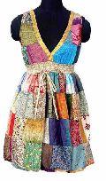 100% Silk Vintage Sari Patch Tops VSG-1062