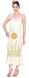 Cotton Hand Block Bustier Dress