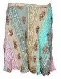 Georgette Bandhni Tie Dye Embroidered Short Skirt- Code- Sk-48b