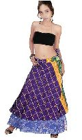 Kariza Silk Wrap Skirt Reversible Wrap Skirt VSWS-03