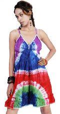 Multicolored-Hand-Tie-Dye-Cotton-Dress