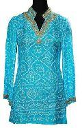 Silk Bandhani Kurti KR-1019