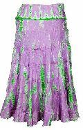 Silk Habutai Embroidered Tie Dye Skirt- Code- Sk-68d