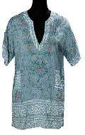 Silk Hand Bandhani Short Sleeve Kurti KR-1053