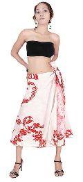 Silk sari wrap skirts