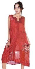 Vintage Silk Sari Patch Dress LEC-23A