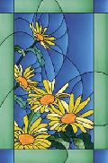 Daisies Glass Painting