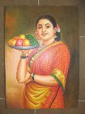 Fruit Lady Oil Painting