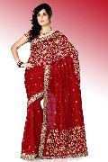 Maroon Bhagalpuri Pure Silk Saree with Unstitched Blouse