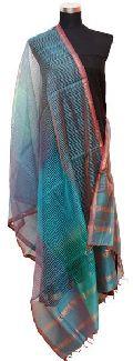 Multi-Shade Maheshwari Silk Dupatta (Design No. D0001)