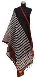 White Checks Maheshwari Silk Dupatta (Design No. D0007)