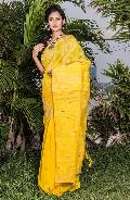 Silk Cotton Ghicha Jamdani Saree