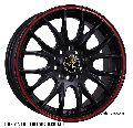 Pr-105 14 10h Mb+red Alloy Wheels