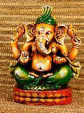Terracotta Sitting Ganesha Statue