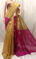 Handloom Silk Cotton Ball Butta Saree