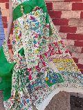Soft Pure Cotton Malmal Handblock Saree