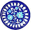 Blue Pottery Decorative Plate