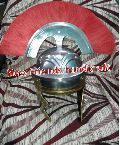 Roman Helmet with Red Plum