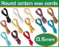 Round Waxed Cotton Cord