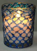 Hand Design Glass Candle